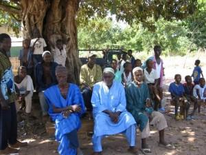 Bespreking met de dorpoudsten