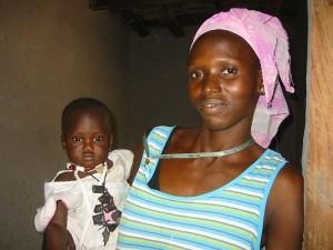 De vroedvrouw met haar eigen kind