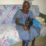 Mbafa Jatta, de oudste inwoonster van Darsilami