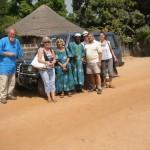 Ontvangers en gevers voor de auto van de stichting