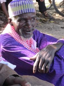De 'alkalo' (dorpshoofd) van Macouda
