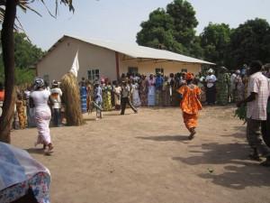 Bij de opening van het centrum in Macouda
