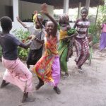 Dansen na het vegen
